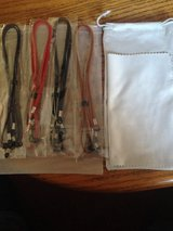 4 EYEGLASSE CORDS, BAG AND CLOTH in Clarksville, Tennessee