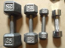 Metal hand weights in Ramstein, Germany