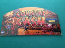 slot machine glass / art from country cash game in Fort Polk, Louisiana