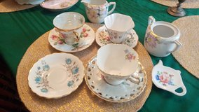 teacups and saucers, creamer and sugar in San Antonio, Texas