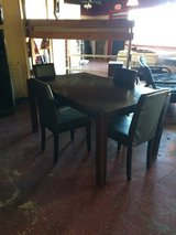 Solid Wood Dinette W/ 4 Parson Chairs in Fort Polk, Louisiana