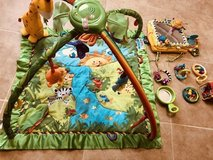 Fisher price rainforest playmat & extra toys in 29 Palms, California