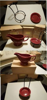 Longaberger Gravy Boat and Spoon Stand Paprika Red in Beaufort, South Carolina
