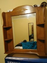 Large mirror with shelves in Leesville, Louisiana