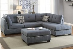 3pc SECTIONAL AND OTTOMAN SET FREE DELIVERY in Huntington Beach, California