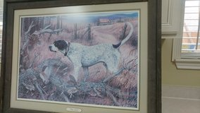 pointer and Quail scene in Converse, Texas