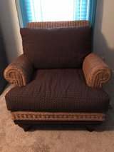 Wicker Upholstered Oversized Chairs in Beaufort, South Carolina