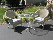 Cute Comfy (Resin Wicker and Iron) Bistro Set in Lockport, Illinois
