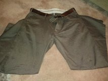 mens next 38R brown trousers with belt in Lakenheath, UK