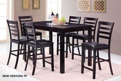 BRAND NEW! 7PC QUALITY PUB ESPRESSO DINING SET in Camp Pendleton, California