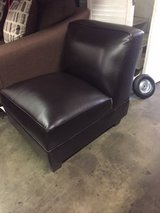 BRAND NEW! SINGLE LEATHER COMFY ARMLESS ACCENT CHAIR in Vista, California