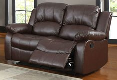 BRAND NEW! BROWN LEATHER 2 SEATER LOVESEAT RECLINER in Camp Pendleton, California