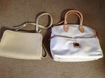 Coach Tan purse and   Dooney Bourke white Purse in Naperville, Illinois