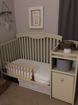 Custom painted 3 in 1 baby crib with storage in Glendale Heights, Illinois
