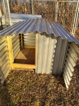 Custom dog house in Fort Campbell, Kentucky