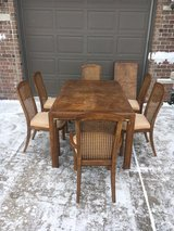 Table@ chairs as is or customize Drexel cane chairs  2 eaves in Morris, Illinois