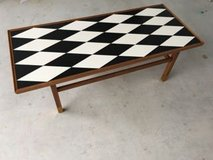 Vintage 1960 Checkered Coffee Table in Okinawa, Japan