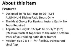 doggie door insert for sliding door in Fairfield, California