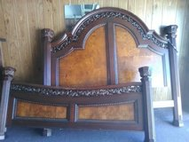 kind size bed frame solid wood in Cleveland, Texas