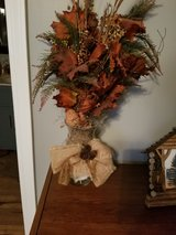 leaves and pine arrangement with pinecones in Fort Campbell, Kentucky