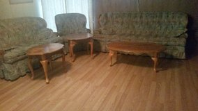 Couch, loveseat, chair, ottoman, coffee table, two end tables. in DeRidder, Louisiana
