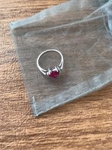 Sterling Silver Ruby Heart Ring in Sugar Grove, Illinois