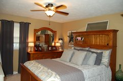 Queen bed with dresser in Sandwich, Illinois