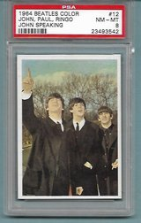 1964 BEATLES COLOR CARD #12 JOHN, PAUL & RINGO PSA 8 (NM-MT) in Ramstein, Germany