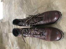 Frye Logger Boot Chestnut Tumbled in Fort Bragg, North Carolina