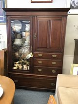 Vintage Cherry Display Cabinet in Naperville, Illinois