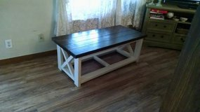 Mudroom bench/coffee table in Kingwood, Texas