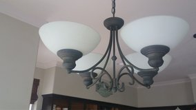Bronze Chandelier with 4 candle 6W bulbs in Camp Pendleton, California