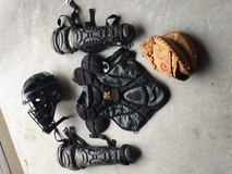 Junior (Age 7-11)Baseball Catcher's Gear including shin guards, chest protector, mask and glove ... in Kingwood, Texas