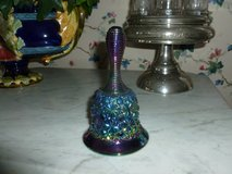 Vintage Fenton Carnival Glass Iridescent Daisy and Button Bell in Sandwich, Illinois