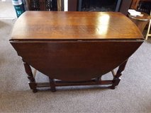 Vintage Solid oak butterfly table, gate leg table, drop leaf table. in Lakenheath, UK