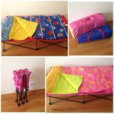 Like-new portable kids cots w/ sleeping bags in Chicago, Illinois
