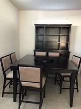 Ashleys Furniture Martini Suite China cabinet w/matching 6 piece table and chairs in Nellis AFB, Nevada