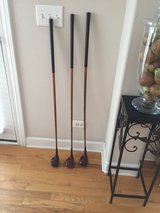 Vintage wooden golf clubs in Westmont, Illinois
