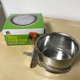 """""""coop cup"""" food or water dish fits on pet crate in Naperville, Illinois"""