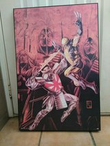 wolverine vs silver samurai canvas paint in bookoo, US
