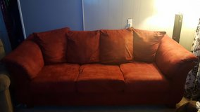 red couch in Fort Campbell, Kentucky