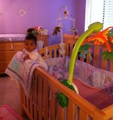Baby crib and matching furniture changing table  ,nursery in Travis AFB, California