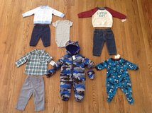 New with tags Baby Boy Clothes Lot, sizes 3 till 9 months in Schaumburg, Illinois