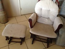 Glider nursing chair with rocking stool in 29 Palms, California