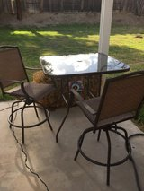 Rectangular patio table W/(2) tall chairs in Oceanside, California