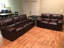 Leather Couch and Loveseat in Fort Rucker, Alabama