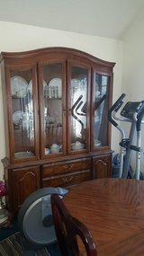 China cabinet and dining table 6 chairs in Travis AFB, California