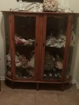 antique hutch with glass door and locks in Spring, Texas