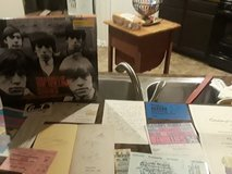Rolling Stones memorabilia with certificates and Keith Richards all their signatures a letter ba... in The Woodlands, Texas