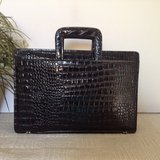 "Vintage by""VIVACE ""  Messenger Bag  genuine croc. embossed patent leather in 29 Palms, California"